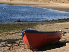 Boat on Findhorn beach