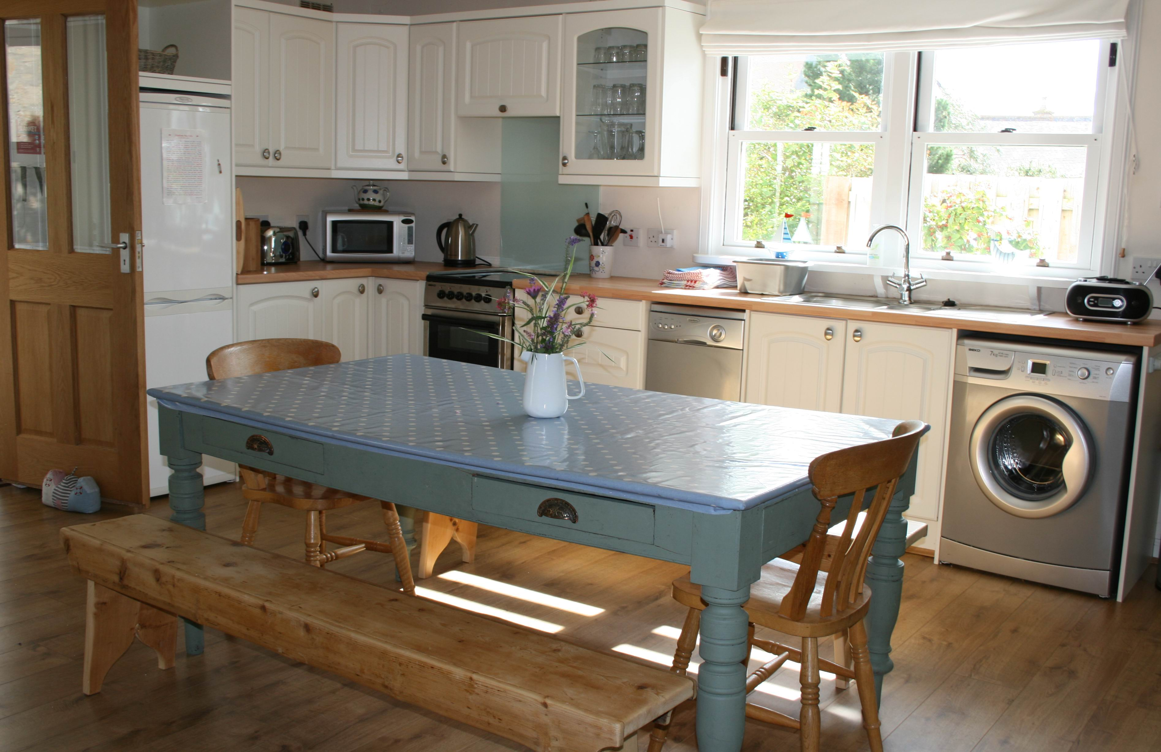 The kitchen at Rosebay Cottage, Findhorn