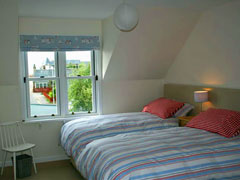 The large bedroom at Rosebay Cottage, Findhorn