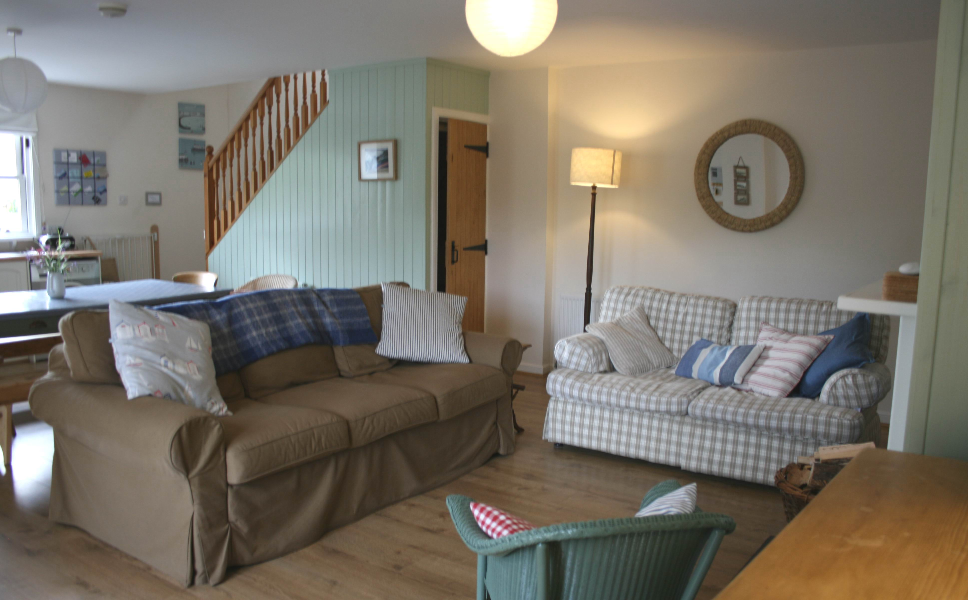 The living room at Rosebay Cottage, Findhorn